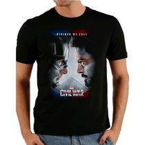 Camiseta Capitão America Camisa Super Herói Engraçada Fiilme