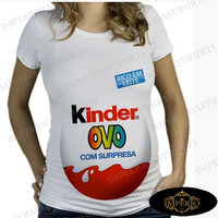 Camiseta Kinder Ovo Gestante Gravida Maternidade