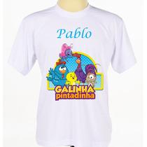 Camisa Camiseta Infantil Galinha Pintadinha Nome Da Criança