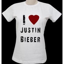 Camisa Baby Look Justin Bieber (vários Modelos)