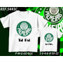 Kit Camisetas Tal Pai Tal Filho Times- Palmeiras Corinthians