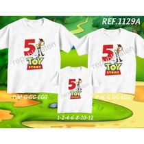 Kit Camisetas Personalizadas Tema Aniversáriotoy Story
