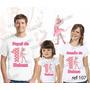 Lembrança De Aniversario Angelina Ballerina Camiseta Kit 3un