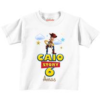 Camiseta Tema Toy Story - Xerife Woody Personalizada!