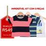 Milon - Kit 3 Camisetas Infantis - Tam-g - Frete Único R$10