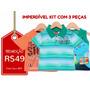 Kyly - Kit 3 Camisetas Infantis - Tam-1 - Frete Único R$10