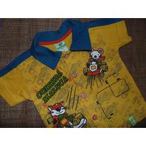 Monte Lote: Camiseta Wyrky Botões Infantil Menino (12-18m)