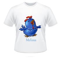 Camiseta Infantil Galinha Pintadinha Com Nome Da Criança
