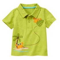Camiseta Polo Masculina Gymboree - Tam 3-6 Meses