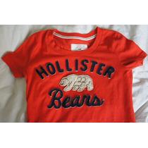 Camiseta Hollister Laranja Feminina Xs (pp) Perfeito Estado