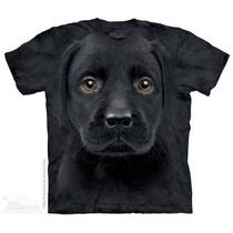 Camiseta Labrador Preto Filhote Face The Mountain Original