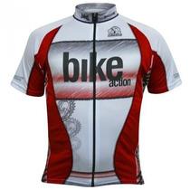 Camisa Para Ciclismo Mtb Damatta Bike Action Com Zíper
