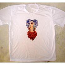 Camiseta Nossa Senhora Das Graças Com Coração Maria Católica
