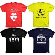Camisetas Banda Cazuza Aborto Eletrico The Beatles Raimundos