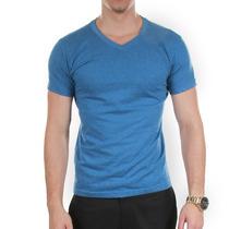 Camiseta Lisa Gola V Cores 100% Algodão Ou 100% Poliester