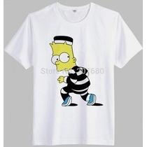 Camiseta Simpsons Bart Desenho Animado