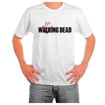 Camisetas The Walking Dead Twd Zumbi Seriado Algodão Cod 173
