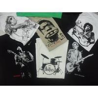 Camiseta Rolling Stones The Beatles Hendrix Keith Richards