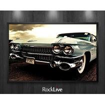Quadro Carros Antigos Kombi Fusca Maverick 50x40cm Rocklive