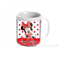 20 Caneca Personalizada Minnie Vermelha Aniversário