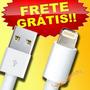 Cabo Usb Iphone 5 5c 5s 6 Ipad Ipod Carregador E Dados Apple