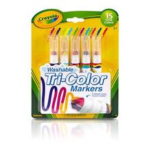 Material Escolar Canetinha Lavaveis Tri-color Markes Crayola