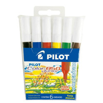 Pincel Pilot Color 850 Junior Estojo 6 Cores Pilot