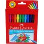 Canetinha Hidrográfica Faber Castell 12 Cores Pronta Entrega