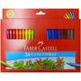 Canetinhas Canetas Hidrográficas 24 Cores - Faber Castell