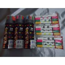 Kit Canetinhas Turma Da Monica 24 Cores+4 Magica+caneta