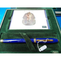 Caneta Lapis Lazuli Tinteiro Original Cross Raridade
