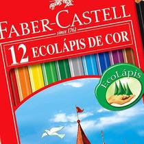 Caixa Lápis De Cor 48 Cores Ecolápis Sextavado Faber Castell