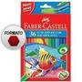 Lápis De Cor Faber Castell 36 Cores Aquarelável + Brinde