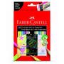 Lápis De Cor Faber Castell 18 Cores Neon - Metálico - Pastel