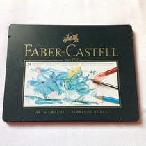 Caixa De Metal 24 Cores Profissional Aquarelavel Fabercastel
