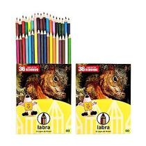 Lapis De Cor - Labra - 1 Pacotes Com 3 Caixas De 36 Unidades