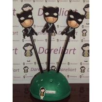 Ponteira Mulher Gato Em Eva 3d 8 Cm - Heróis Batman Kit C/3