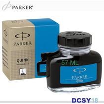 Vidro De Tinta Parker | Azul Lavável - 57ml. Tinteiro