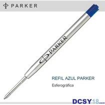 Carga Parker - Refil Tinta Azul - Esferográfica Fina
