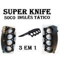 Soco Inglês Com Faca Canivete Knife Tático Defesa Pessoal