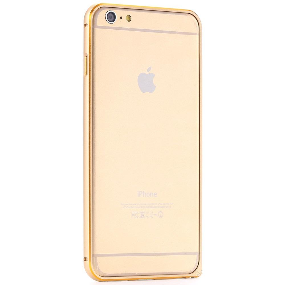 Capa Bumper Metal Dourada Gold Premium Para Iphone 6 4.7 - R$ 54,99 no ...