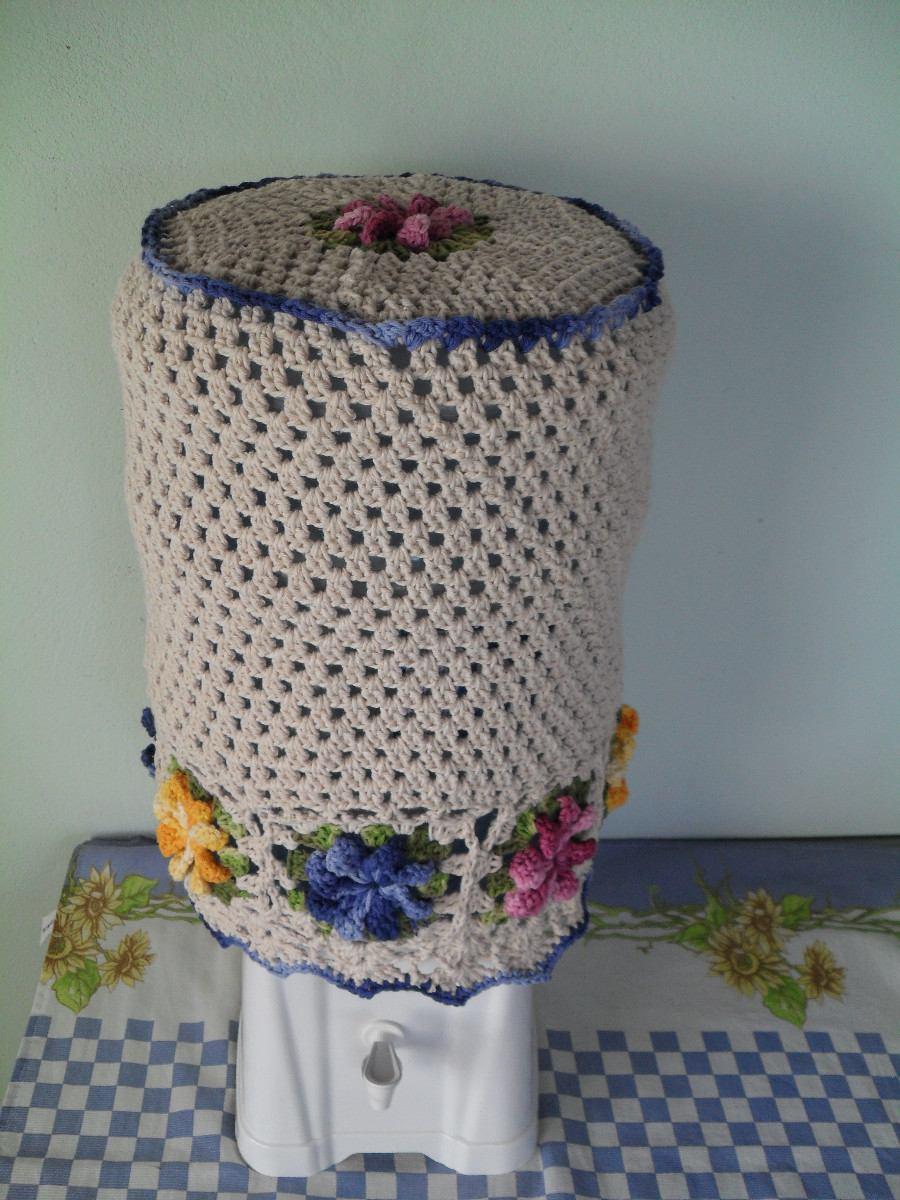 Capa P/ Garrafão De Agua 20l Em Crochê De Barbante Artesanal - R$ 49