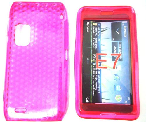 Capa Silicone Tpu Celular Nokia E7+frete Grátis