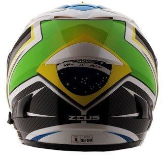 Capacete Zeus 806a Brasil C/sunvisor Fumê