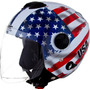 Capacete Estados Unidos Pro Tork New Atomic Moto Bandeira