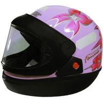 Capacete Moto Femme Lilas San Marino Tamanho 56