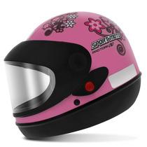 Capacete Fechado Pro Tork Sport Moto For Girl Rosa Tam. 58