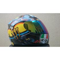 Capacete Valentino Rossi 46 Corsa The Turtle K-3 2 Viseiras