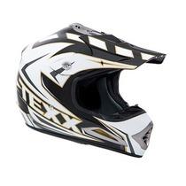 Capacete Branco C/ Preto Moto Texx Speed Mud -tam: 58