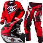 Kit Motocross Pro Tork Fleet Vermelho Preto Trilha Enduro